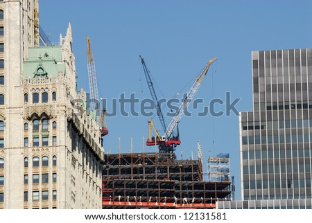 Construction site in the city