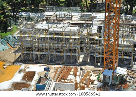 Construction Site Of A high-rise Building - stock photo