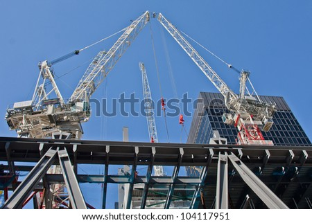 Construction site on 122 Leadenhall Street in London, UK. May, 2012