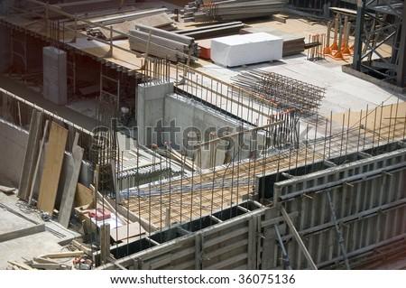 construction site pit / sity landscpe - stock photo