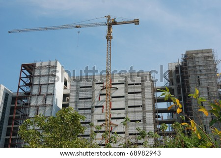 construction site to building