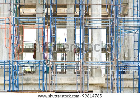 Construction site, unfinished building - stock photo