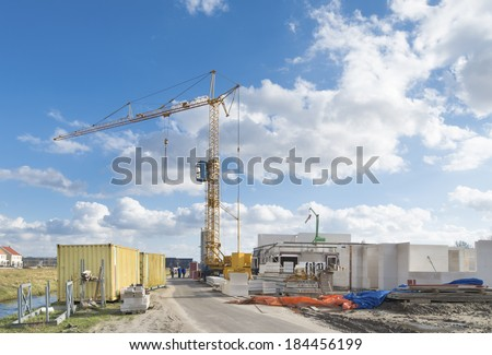 construction site with crane in the netherlands
