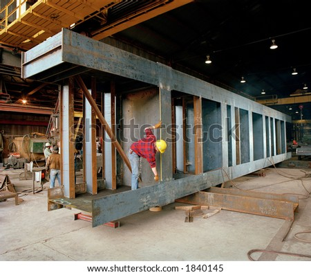 Construction: Steel Fabrication - stock photo