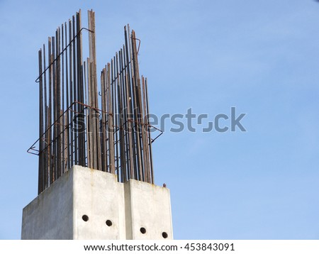 Construction structure freeway pillars