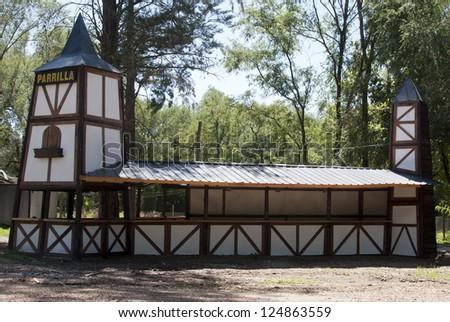 construction style Aleman - stock photo