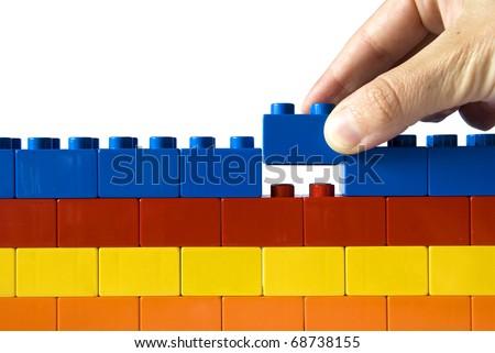 Construction the wall - stock photo