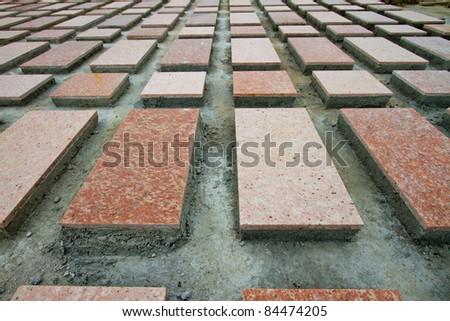 Construction tiles. - stock photo