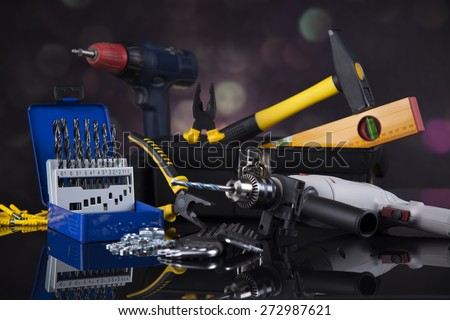 Construction tools, house renovation concept - stock photo