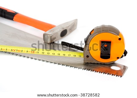 Construction tools isolated on white background