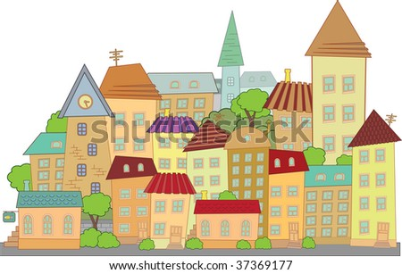 construction town little city - stock photo