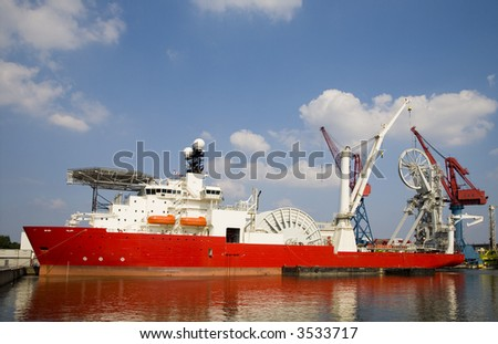 Construction vessel 1 - stock photo