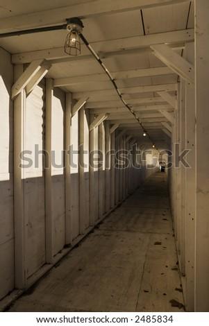 Construction Walkway - stock photo