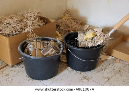 construction waste - stock photo