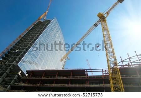 Construction work site - stock photo
