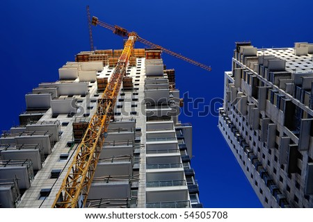 Construction work site - stock photo