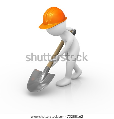 3d worker stock images royalty free images vectors for Digging ground dream meaning