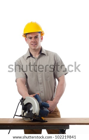 construction worker do it your self project - stock photo