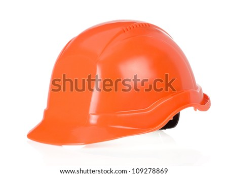 construction worker helmet isolated on white background