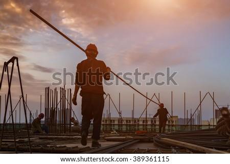 construction worker on construction site