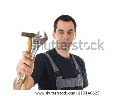 construction worker with tools / worker