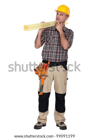 Construction worker wondering what to do
