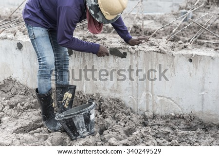 Construction workers or laborer with higher demand in the future. - stock photo