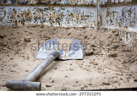 Construction workers working on site. Works at home. Reform facade. Worker wearing the facade of a house. - stock photo