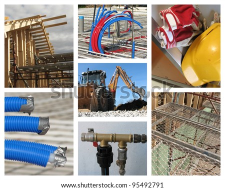 Constructions site of a new residential building - stock photo