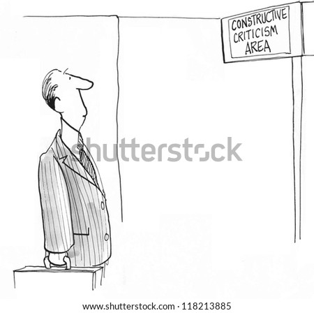 Constructive Criticism Area is clear to executive - stock photo