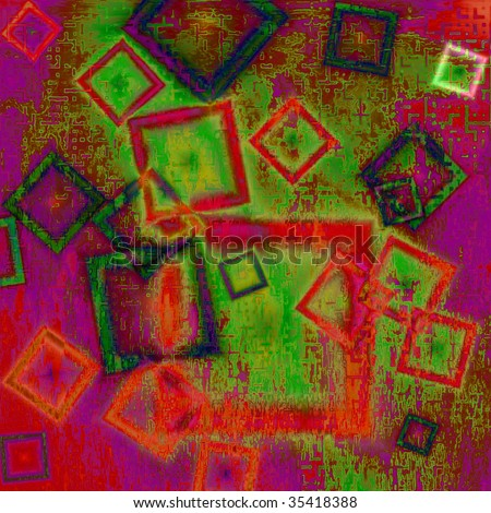 Constructivism background abstract looks similar Pablo Picasso - stock photo