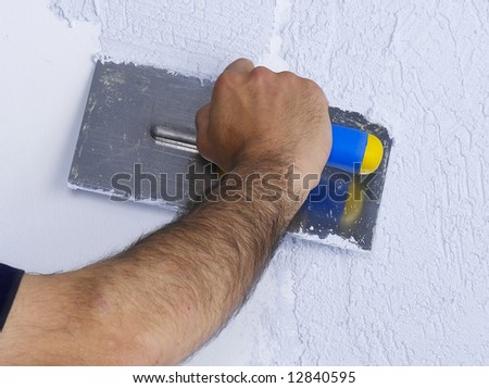 Redecorating House Walls Stock Photo (Royalty Free) 12840595 ...
