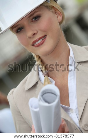 consultant, architect - stock photo