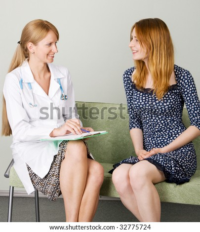 Consultation in a clinic - stock photo