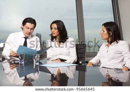 Consultation with financial advisers - stock photo