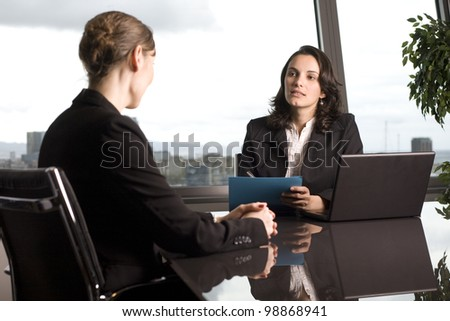 Consultation with tax adviser - stock photo