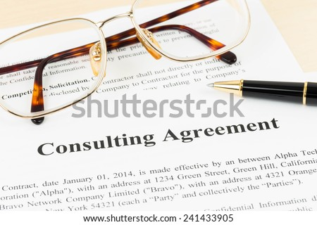 Consulting agreement document business concept - stock photo