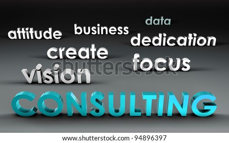 Consulting at the Forefront in 3d Presentation - stock photo