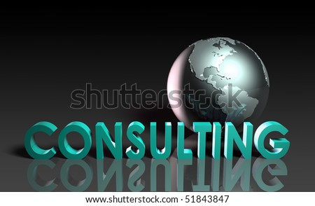 Consulting Services on a Global Scale in 3d - stock photo
