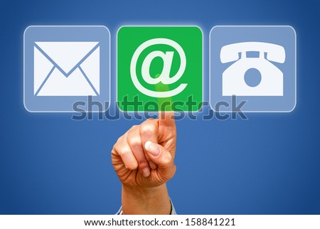 Contact by eMail - stock photo