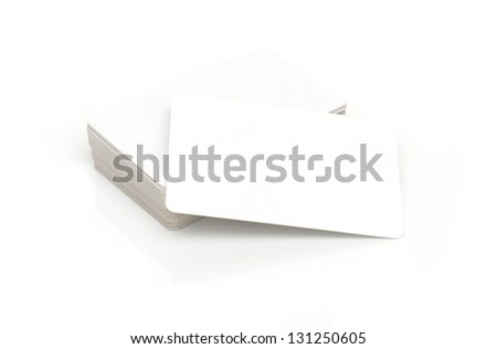 Contact cards - stock photo