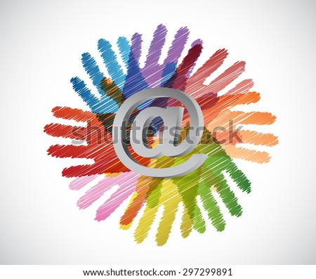 contact everyone concept illustration design over white - stock photo