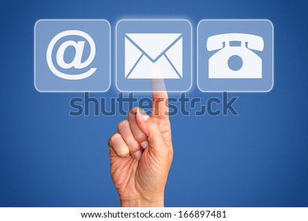 Contact Options - stock photo