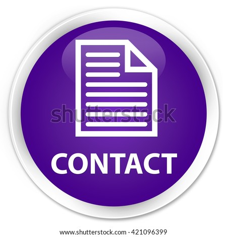 Contact (page icon) purple glossy round button - stock photo