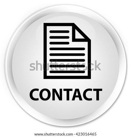 Contact (page icon) white glossy round button - stock photo