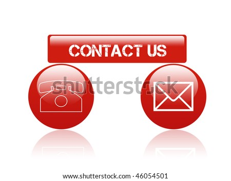 contact signs - stock photo