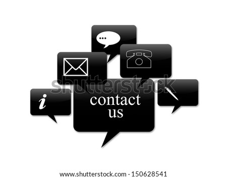 contact signs for business - stock photo