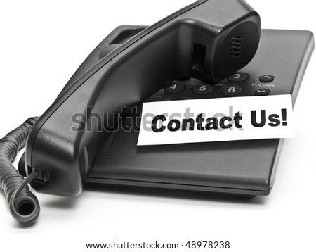 Contact us! - stock photo