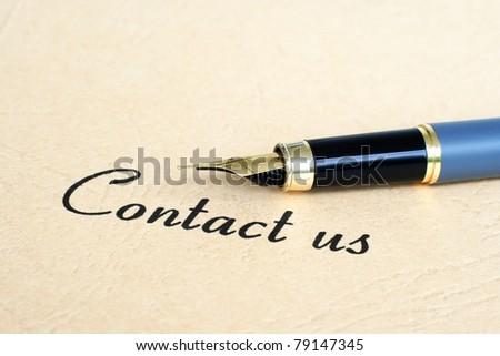 Contact us - stock photo