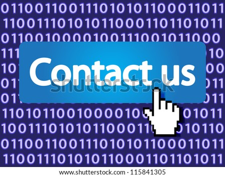 Contact us Button with Hand Cursor. Vector version also available in my portfolio.